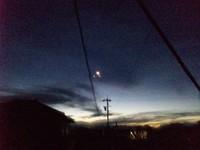 明け方の…月?