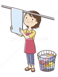 腰痛を避ける、洗濯物の干し方