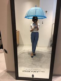 水玉のビニール傘