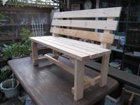 ガーデンベンチ作製。。。