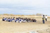 吉田中学サッカー部、おわかれサッカー。