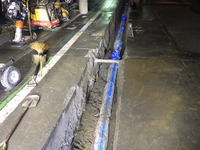 配水管工事施工中