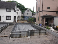 静岡市駿河区向敷地 1期1号・2号 基礎工事
