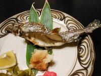 「花月」の鱒料理