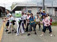 菊川市へ野菜収穫ウォーキングにGO
