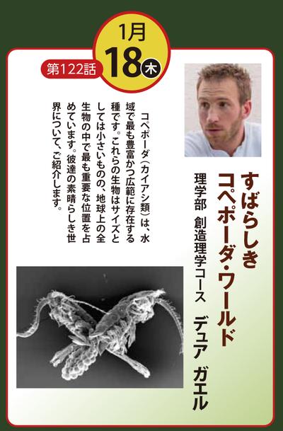サイエンスカフェin静岡:1月18日は「すばらしきコペポーダ・ワールド」