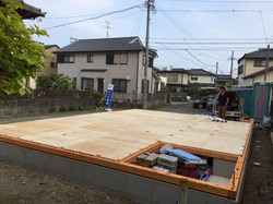 静岡市清水区追分 Y様邸 土台据付