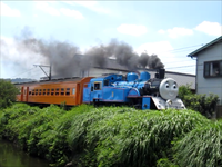 きかんしゃトーマスが大井川鉄道を走っている