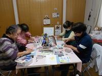 パステルアート教室(菜の花と蝶)